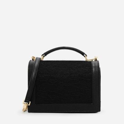 フロントフラップトップハンドルスリングバッグ / FRONT FLAP TOP HANDLE SLING BAG (Black)