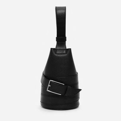 バックルディテールバケツバッグ / BUCKLE DETAIL BUCKET BAG (Black)