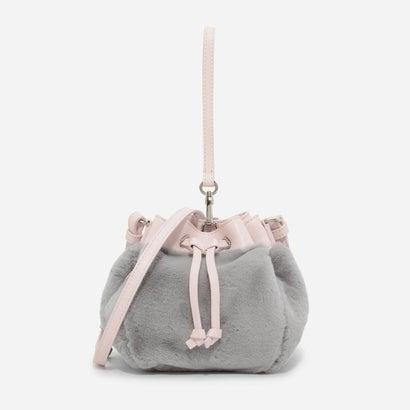 ファーリードローストリングバッグ / FURRY DRAWSTRING BAG (Light Grey)