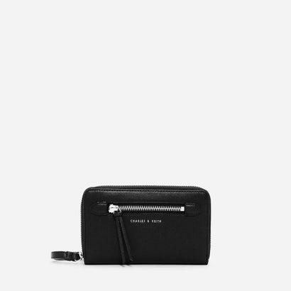 フロントジップウォレット / FRONT ZIP WRISTLET (Black)