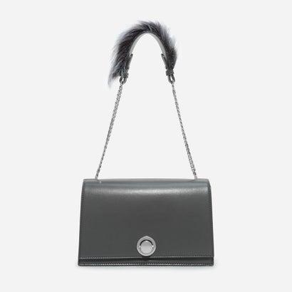 ファーリーチェーンストラップショルダーバッグ / FURRY CHAIN-STRAP SHOULDER BAG (Grey)