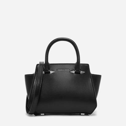 メタリックディテールトラペーズバッグ / METALLIC DETAIL TRAPEZE BAG (Black)