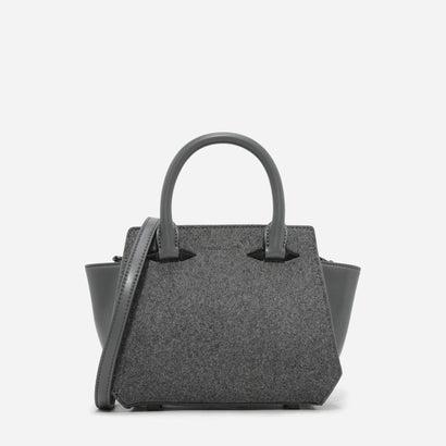 メタリックディテールトラペーズバッグ / METALLIC DETAIL TRAPEZE BAG (Grey)