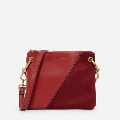 コントラストテクスチャードスリングバッグ / CONTRAST TEXTURED SLING BAG (Red)