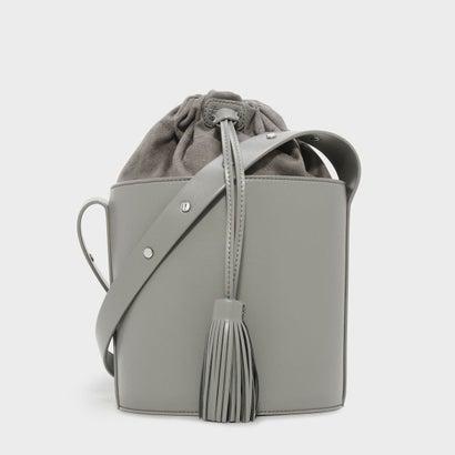 ドローストリングバケツバッグ / DRAWSTRING BUCKET BAG (Grey)