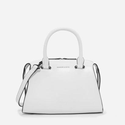 ダブルジップトラペーズバッグ / DOUBLE ZIP TRAPEZE BAG (White)
