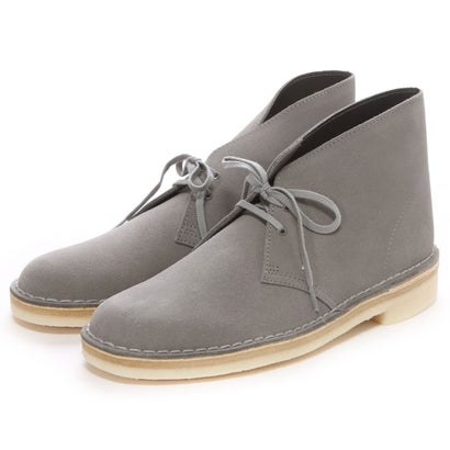 Clarks Desert Boot: Grey Stone Suede