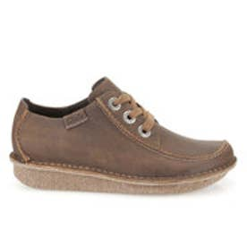 クラークス Clarks Funny Dream Brown Leather  / ファニードリーム (ブラウン)