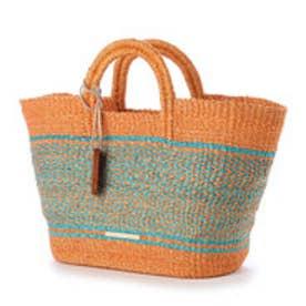 カル Cal 菱形編みサマートートバッグ (オレンジ)