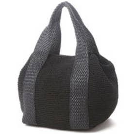 クーコ COOCO 紐編みトートバッグ (ブラック)