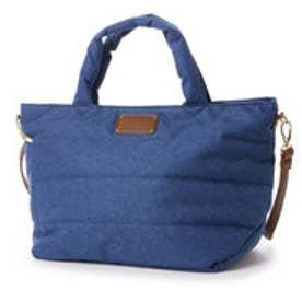 クーコ COOCO キルティング2WAYトートバッグ (ブルー)