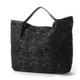 クーコ COOCO シャイニー折り畳みトートバッグ (ブラック)