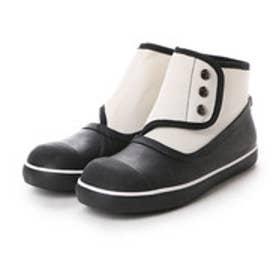 バイアシナガオジサン BY あしながおじさん 雨天対応ショートブーツ (ブラックホワイト)