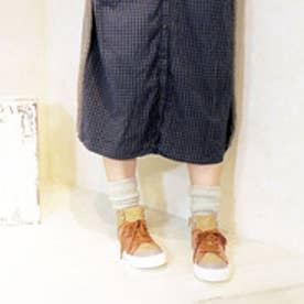 バイアシナガオジサン BY あしながおじさん タウンスニーカー (キャメルコンビ)