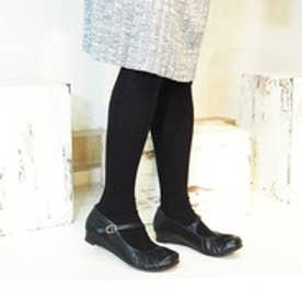 バイアシナガオジサン BY あしながおじさん ストラップパンプス (ブラック)