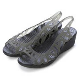 クロックス crocs フローラルカットフラットシューズ 14937 (ブラック)