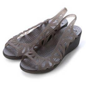 クロックス crocs フローラルカットフラットシューズ 14937 (エスプレッソ)