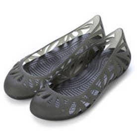クロックス crocs フローラルカットフラットシューズ 14936 (ブラック)