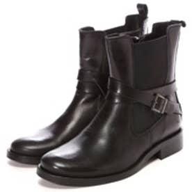 アケボス acebo's サイドゴアショートブーツ(ブラック)