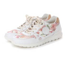 エコー ECCO ECCO CS14 LADIES (WHITE/FLORAL PRINT/POWDER)