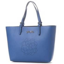 フォリフォリ Folli Follie SANTORINI FLOWER PERFORATEDトートバッグ (ブルー)