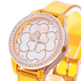 フォリフォリ Folli Follie JELLY WATCH SANTORINI FLOWER EDITION (サンセットオレンジ)