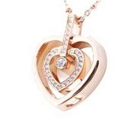 フォリフォリ Folli Follie WINTER HEARTS Twin Hearts 6wayネックレス/ピンクゴールド