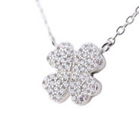 フォリフォリ Folli Follie WINTER HEARTS Fashionably Silver Heart 4 Heart Love クローバーネックレス/シルバー