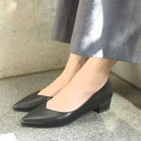 フィン Fin 【低反発スポンジ入り】Vカットフラットシューズ (ブラック)