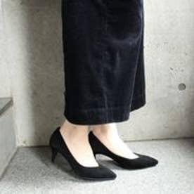 フィン Fin 【低反発スポンジ入り】ポインテッドトゥパンプス (ブラック)