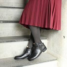フィン Fin 【低反発スポンジ入り】ベルトサイドゴアブーツ (ブラック)