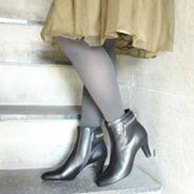 フィン Fin 【低反発スポンジ入り】バックジップデザインブーツ (ブラック)