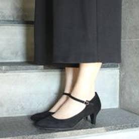 フィン Fin 【低反発スポンジ入り】ストラップパンプス (ブラック)