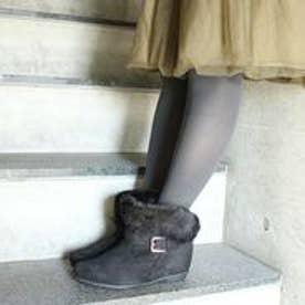 フィン Fin 【低反発スポンジ入り】2WAYショートブーツ (ブラック)
