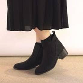 フィン Fin 【低反発スポンジ入り】サイドゴアショートブーツ (ブラック)