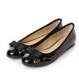 クリアインプレッション CLEAR IMPRESSION リボン付きバレエパン革靴 (クロ)