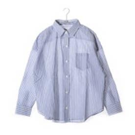 クリアインプレッション CLEAR IMPRESSION 綿キュプラシャツ (ブルー)