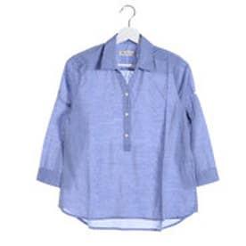 クリアインプレッション CLEAR IMPRESSION モダールコットンシルシャツ (サックス)