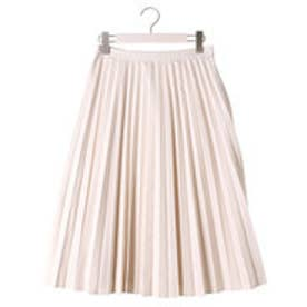 クリアインプレッション CLEAR IMPRESSION フェイクレザー SKショートスカート (アイボリー)