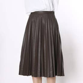 クリアインプレッション CLEAR IMPRESSION フェイクレザー SKショートスカート (コゲチャ)