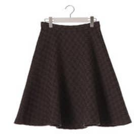 クリアインプレッション CLEAR IMPRESSION バスケットツィードショートスカート (コゲチャ)