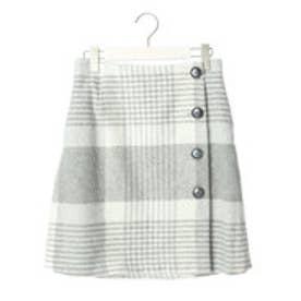 クリアインプレッション CLEAR IMPRESSION TWシャギーチェックショートスカート (グレー)