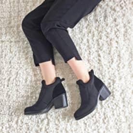 エンチャンテッド enchanted 本革素材コンビショートブーツ (ブラック)