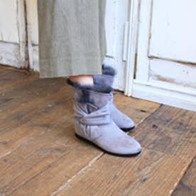 エンチャンテッド enchanted ラビットファーリボン撥水ブーツ (ライトグレースエード)