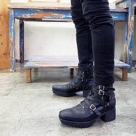 ヨースケ YOSUKE ポインテッドベルトブーツ(ブラック)