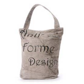 アンチフォルムデザイン Anti-Forme Design LOGO BAG バゲットトート(リネン) (グレー)
