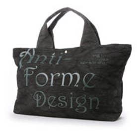 アンチフォルムデザイン Anti-Forme Design LOGO BAG ビッグトート(リネン) (ブラック)