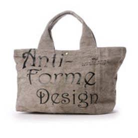 アンチフォルムデザイン Anti-Forme Design LOGO BAG ビッグトート(リネン) (グレー)