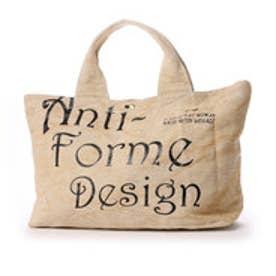 アンチフォルムデザイン Anti-Forme Design LOGO BAG ビッグトート(リネン) (ベージュ)