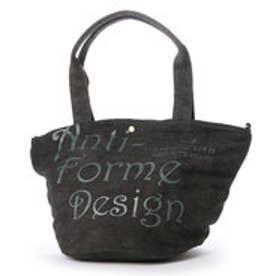 アンチフォルムデザイン Anti-Forme Design LOGO BAG バケツ型トート(リネン) (ブラック)